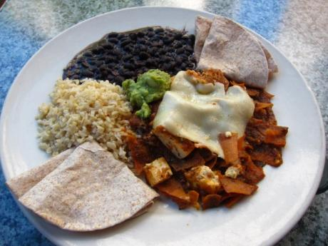 lr-dream-cafe-beans-red-tortilla-strips-with-tofu-brown-rice-whole-wheat-tortillas-640x480
