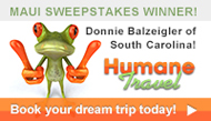 Humane Travel Sweepstakes Winner